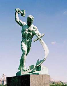 Swords into Plowshares statue